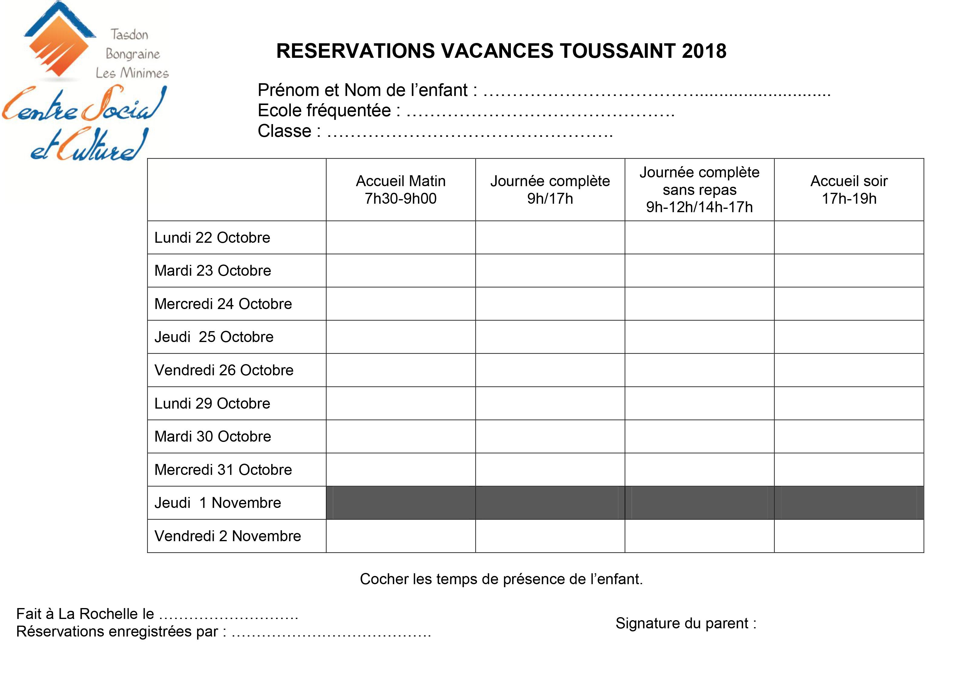 Vacances Scolaires