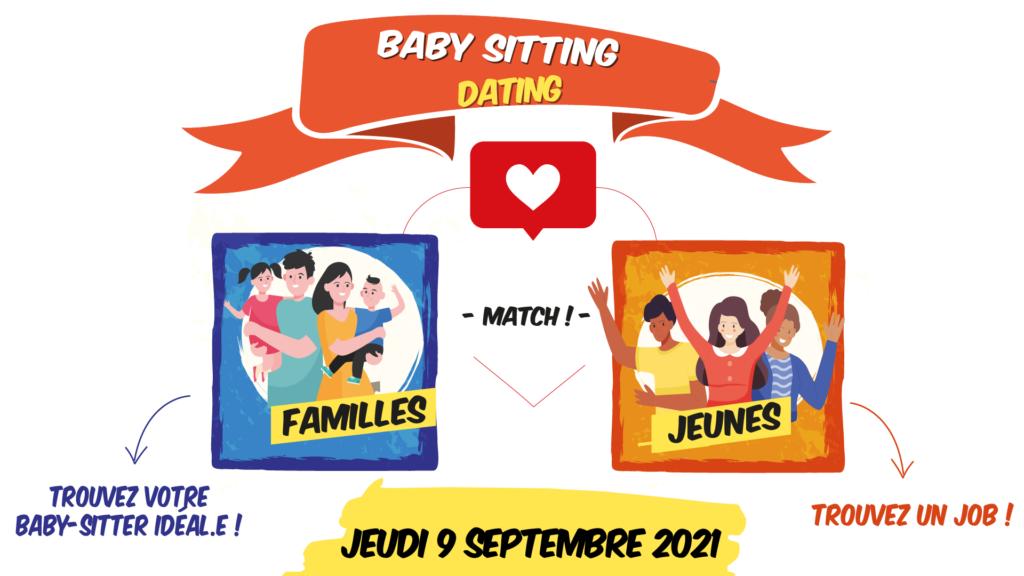 Baby-Sitting Dating jeudi 9 septembre 2021 au Centre Social et Culturel de Tasdon Bongraine Les Minimes organisé par le CDIJ de la Rochelle